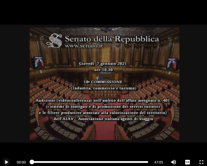 AIAV Senato della Repubblica Video thumb